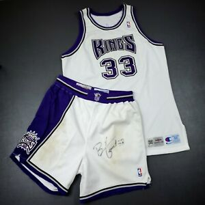 100% Authentic Brian Grant Champion 94 95 Kings Game Signed Jersey Shorts - worn