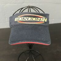 🌴🏁NASCAR Hendrick Motorsports No. 24 Jeff Gordon Visor Cap Hat Blue🌴Free Ship