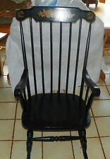 Black Nichols & Stone Rocker / Rocking Chair  (R241)