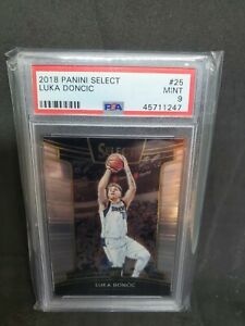 2018-19 Panini Select Concourse #25 Luka Doncic RC Rookie PSA 9 Mint
