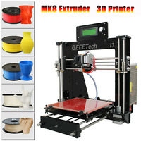 Acrylic Geeetech i3 Reprap Prusa 3D Drucker 3d Printer MK2A Heatbed MK8 Extruder