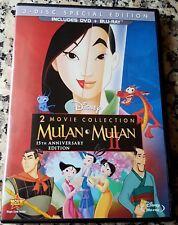 MULAN 1 & 2 Blu Ray + 2 DVD Special Edition Set Walt Disney Bonus Deleted Scenes