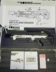 The boring company not a flamethrower! $5 Letter Manual + Extinguisher #10 000
