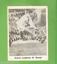 #D232. 1967 MIRROR RUGBY LEAGUE PHOTO CARD - ST. GEORGE- GRAEME LANGLANDS CARD