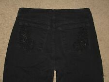 NYDJ Not Your Daughter's Jeans Size 8 Flare Black Stretch Denim Womens Jeans