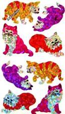 ~ Sparkle Playful Cat Kitten Pussy Purple Pink Hambly Studio Glitter Stickers ~