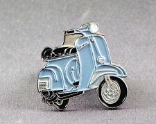 Metal Enamel Pin Badge Brooch Vespa Scooter Motorbike Biker Rider Light Blue