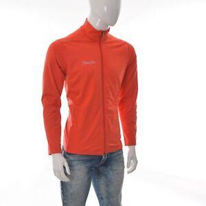 Reebok Sportswear Men Full Zip Fitness Workout Jumper Jacket Size XL Neon Orange