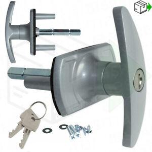 NEW HENDERSON T-Handle Garage Door Lock 35mm Spigot LONG SHAFT Merlin Doric King