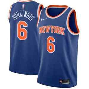 💯% Genuine Kristaps Porzingis New York Knicks Nike Swingman Jersey Blue - 2XL