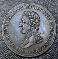 1812 HALF PENNY TOKEN Wellington Peninsular Token BR#987 WE-11A2