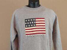 Men's Vintage RALPH LAUREN Pullover Sweatshirt + 90s BIG USA Flag Polo Sport - S