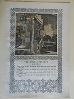 Jerusalem Church of the Holy Sepulchre Interior 1903 old Harper's print