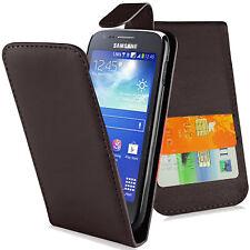 Hülle f Samsung Galaxy Ace 3 S7275/S7570 Leder-Imitat Tasche Flipcover schwarz