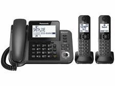 Panasonic KX-TG592SK Telephones 3 Handset Corded / Cordless Phone
