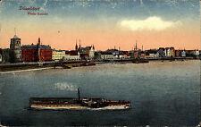 Schiffe ca. 1910 Rhein Dampfer bei Düsseldorf Hafen Salondampfer Anlegestelle