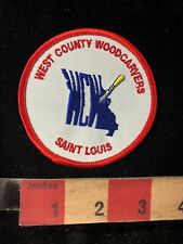 WCW Saint Louis WEST COUNTY WOODCARVERS Wood Carving Patch Woodcarver 99J8