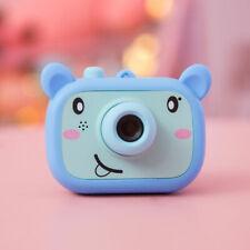 """Mini Kids Cartoon Digital Camera 2.0"""" HD Include TF 16GB storage card blue"""