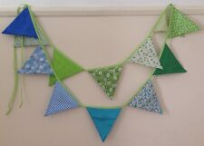 Bunting - Polka Floral Gingham Green Blue Shabby Chic Vintage Party Decor  9ft