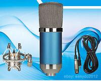 "Meteor Condenser Studio Microphone Cardioid  Vocal Recording Studio Mic 48V 1/8"""