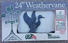 Rare Duck Weathervane 24'' Whitehall Prod Ltd Handcrafted Aluminum Usa Made Nos