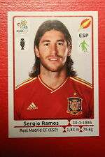 Panini EURO 2012 N. 291 ESPANA SERGIO RAMOS NEW With BLACK BACK TOPMINT!!