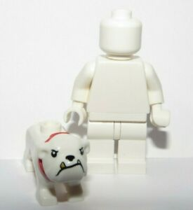 Lego White Bulldog Bull Dog Puppy Gold Tooth Red Collar  Minifigure Not Inc Pet