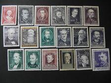 Stamps Austria 1947-85 Famous Persons (18) UM/ MH, fine used(4). cv c.£82 (2005)