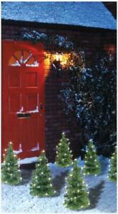 6 Piece Mini Xmas Tree Path Christmas Lights - 60 Leds Decoration