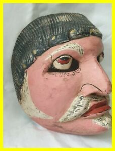 CHINESE HAND CARVED WOODEN OPERA MASK CIRCA 1900, STUNNING DISPLAY PIECE