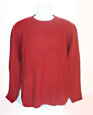 CHARTER CLUB Men's 100% Lambs Wool Sweater Sz Medium Red Knit Pullover Crew Neck