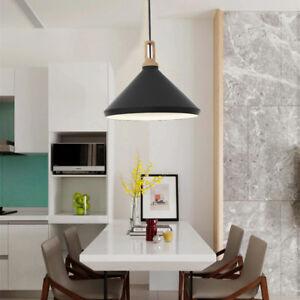 Modern Ceiling Lights Kitchen Wood Pendant Light Office LED Lighting Bar Lamp