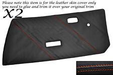 Puntadas de hilo naranja 2x Frontal Puerta Tarjetas Cuero Piel Cubre encaja Fiat X1/9 x19 73-89
