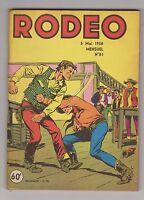 RODEO n°81 - 5 mai 1958. Très bel état. Miki le Ranger.
