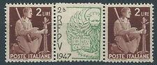 1945-48 ITALIA DEMOCRATICA 2 LIRE PONTE CON SOPRASTAMPA RFPV - RR13290