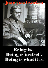 Jean-Paul Sartre picture and quote poster print