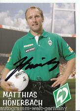 Matthias Hönerbach Werder Bremen 2006-07 2.Karte TOP +A41696