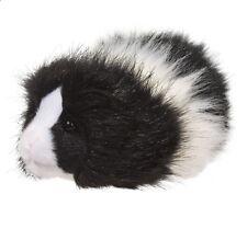 "Douglas Cuddle Toys 8"" Plush ANGORA the BLACK & WHITE GUINEA PIG ~NEW~"