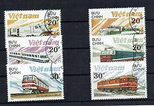 """schöne Eisenbahnmotivmarken Vietnam """" Lokomotiven """""""