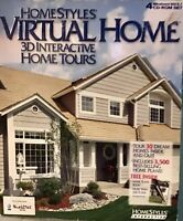 Homestyles Virtual Home 3D CD Rom PC Software FREE SHIPPING