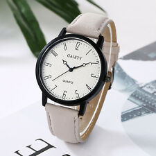 Fashion Womens Watch Stainless Steel Leather Analog Quartz Girl Dial Wrist Watch
