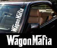 "3x "" WAGON MAFIA "" station wagon / car Windscreen 500mm stickers / Decals"