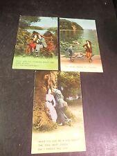 3 Vintage Comic Postcards Bamforth & Co. Publishers Unused