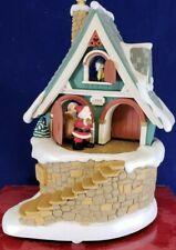 "Vintage 1998 Hallmark Santa's Merry Workshop"" Windup Musical Music Box Christmas"