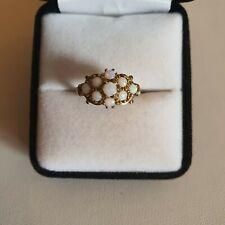 Vintage 9ct gold Opal Cluster Ring