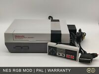 NESRGB Nintendo NES Front Loader PAL Console with RGB Mod   Excellent Condition