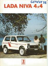 LADA NIVA 1600 - VAZ 2121 - 1992 ? SUISSE / catalogue brochure prospekt dépliant