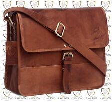 Leather Satchel Handmade DESIGNER J Wilson Bag Vintage Flap Over Messenger Retro
