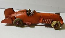 Hubley 1930's Cast Iron Toy Fishtail Racer Nickel Driver