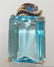 Natural Sapphire Black Boulder Opal Approx 55ct Swiss Blue Topaz HUGE Pendant